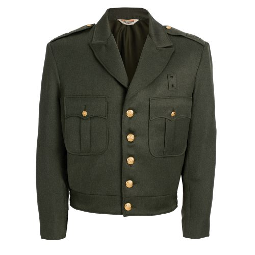 100% Polyester Forest Green Button Up Ike Jacket