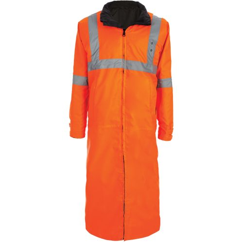 6011 Reversible Raincoat, Orange and Black
