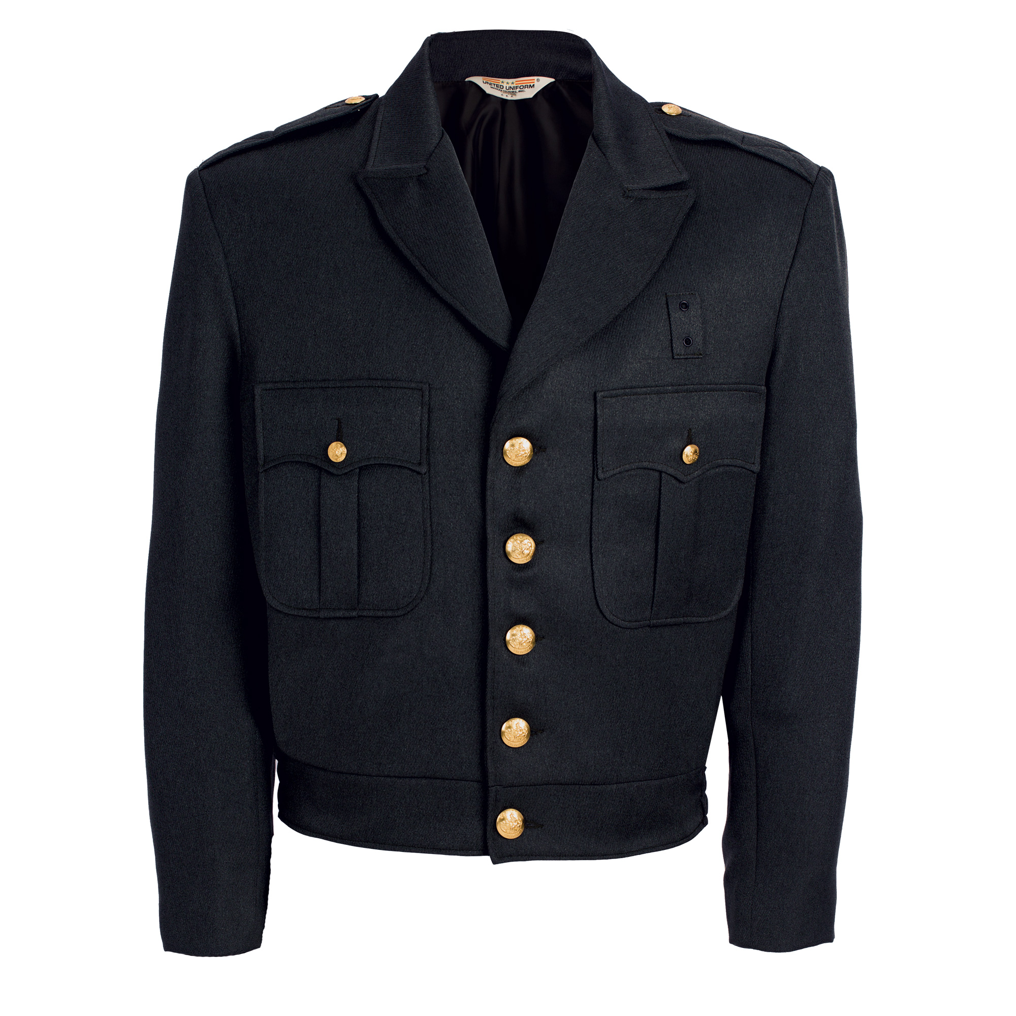 100% Polyester Button Front Ike Jacket, LAPD Navy