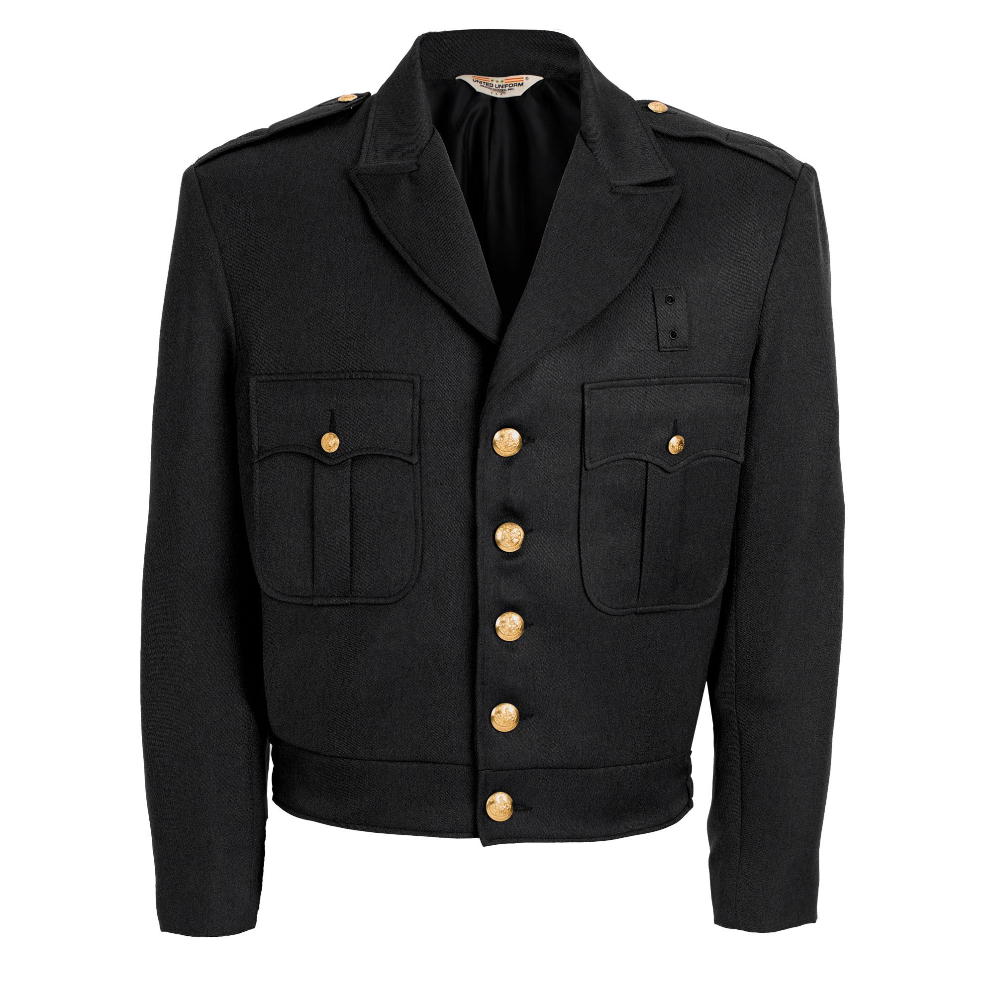 100% Polyester Black Button Up Ike Jacket